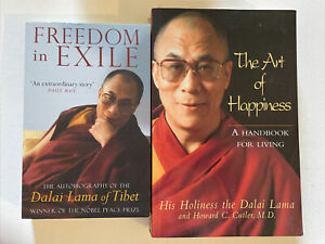 Dalai Lama Books x 2 Art of Happiness & Freedom in Exile Paperback Free Post