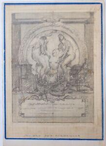 Giorgio Matteo Aicardi (Italian 1891- 1984) pencil drawing on grid paper