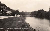 River Front Bungalows Pangbourne  RP old pc used 1934 WHS Derwent