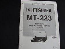 Original Service Manual Fisher MT-223