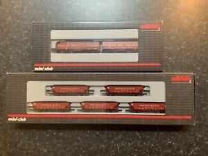 Marklin spur z scale/gauge F7 A-B Diesel Locomotive & 5 Hopper Car Train Set.