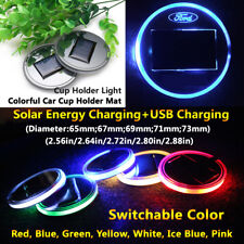 1pcs Coaster Car LED Lights Solar Energy Lamp Parts For Ford Light Accessories