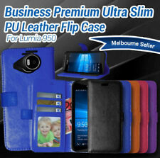 Flip Leather Wallet Case Cover For Microsoft Nokia Lumia 950, 950 XL
