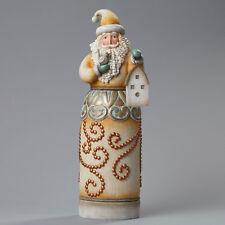 River's End Jim Shore Christmas Santa Holding Bird Birdhouse Figurine ~ 4048059