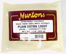 Muntons Plain Extra Light Dry Malt Extract 1 lb for Home Brew Beer Making