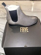 Frye Ben Chelsea 80317 Mens Gray Leather Slip On Casual Dress Boots Shoes 11