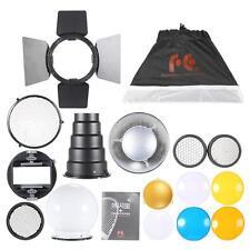 9in1 Flash Speedlite Light Kit Reflector Softbox Grip Snoot Diffuser Filter P0X7