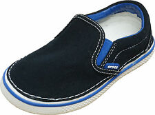 Crocs Kid's Hover Canvas Slip-On Sneaker ~ Black/Sea Blue ~9 M US Toddler