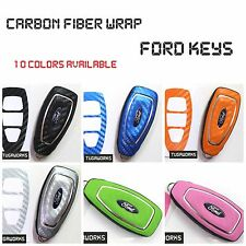 FORD Key Carbon Decal Sticker Fob Keyring Overlay Fiesta Focus Mondeo St Rs Kuga