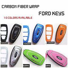 FORD Key Carbon Sticker Fob Keyring Overlay D Focus B C-Max Mondeo Fiesta Galaxy