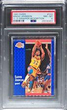 PSA 8 MAGIC JOHNSON 1991-92 Fleer 3D Acrylic Wrapper Redemption Lakers NM-MINT