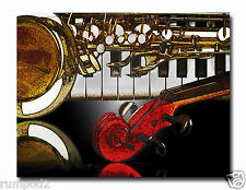 Music Poster/Art Print/Violin/Piano/Flute/Horn/17x22 in/Musical Instruments