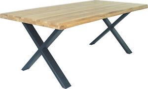 Esstisch Baumkantentisch Wildeiche Baumkante bis zu 300 x 100 cm Eiche geölt