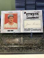 2020 Historic Autographs Half Century Jack Russell Rare Cut Auto 1933 Goudey!!!