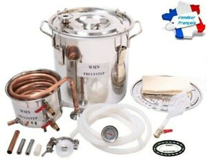 Alambic Distillateur, Cuve Inox de 30 Litres, Serpentin en Cuivre,Haute Qualité