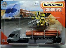 MATCHBOX SUPER CONVOY 2020 1/64 TESLA SEMI & PIPE TRAILER LOAD LIFTER GBK70-956B