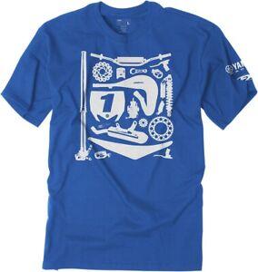 Factory Effex Yamaha Youth T Shirt Royal Blue MX Moto Offroad Racing T-shirt