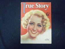 1934 SEPTEMBER TRUE STORY MAGAZINE - JOAN BLONDELL COVER - ST 4244