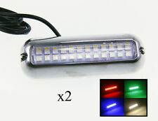 "Pactrade Marine Boat Pontoon 24 RGBW S.S.316 LED Underwater Light 4 3/4""L X 2 Pc"
