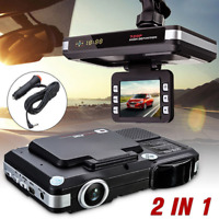 2in1 HD LCD Diaplay Car Camera Electronic Driving Recorder Radar Dectector Alarm