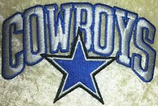 """Dallas Cowboys NFL 3.5"""" Die Cut Iron On Embroidered Patch ~USA Seller~FREE Ship!"""