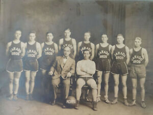 """Darago Brothers Basketball Photograph Akron Ohio Orig 8""""x10"""" Meats Sports Team"""