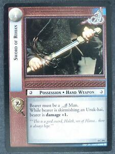 Sword of Rohan 4 C 291 - played - LotR Cards #WH