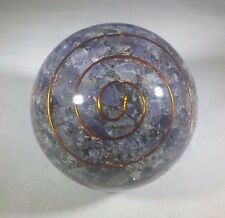 LARGE (60-70mm) BLUE AVENTURINE ORGONE GEMSTONE SPHERE ORGONITE SPHERE