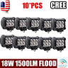 10X 4''inch 18W Flood LED Work Light CREE Offroad Driving SUV UTE ATV Motor Lamp