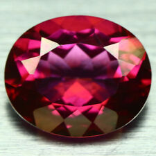 STOP FOR RED 8x6mm E//C l MYSTIC TOPAZ PEONY RED variety 1.80ctw minimum