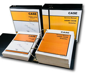 CASE 1450B 1455B CRAWLER LOADER DOZER SERVICE REPAIR MANUAL PARTS CATALOG BOOKS
