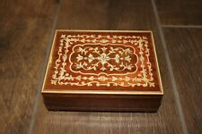 Vintage Lador Wood Inlay Music Box! Plays Torna a Surriento. Swiss Musical Mvmt