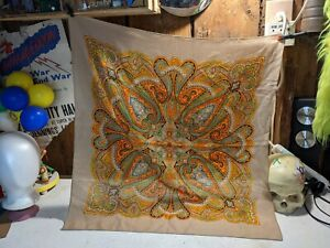 Scarf Paisley India Matte 23x23 in.060821