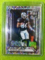 ANTONIO BROWN CARD RAIDERS JERSEY #84 PRIZM /99 SP REFRACTOR - 2019 National VIP
