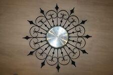Vintage Elgin Wrought Iron Starburst Wall Clock AS IS