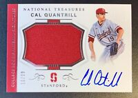 2018 Panini National Treasures CAL QUANTRILL Autograph RPA Patch Relic SP /99
