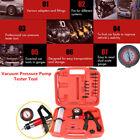 Hand Held Vacuum Pressure Pump Tester Tool Brake Bleeder Kit Adapters With Box