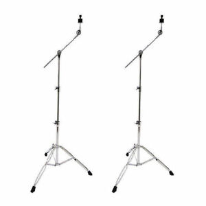 2 X Cymbal Boom Stands Double Braced Crash Splash China Ride DP Drums CB3650