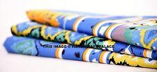 Apparel Turquoise Ikat Running Fabric Dressmaking Fabric Indian 5 Yard Fabric