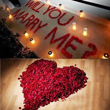 200/1000pcs diverses couleurs soie fleur rose pétales de mariage Decor