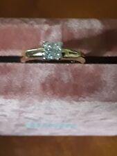 18ct Yellow Gold Diamond Princess Cluster Ring ..Size I 1/2