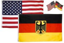Wholesale Combo Usa & German Eagle Country 2x3 2'x3' Flag & Friendship Lapel Pin