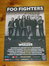 FOO FIGHTERS - WEEZER 2018 Laminated Australia Tour Poster- 2nd Release OFFICIAL