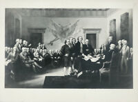 TRUMBULL Antq Gel. Silver Photo c1920s DECLARATION OF INDEPENDENCE CO Buckingham