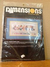DIMENSIONS GIRLS BUGGY BUNNY BEAR COUNTED CROSS STITCH KIT NEW 1985