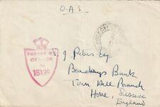 1945 GB censored MPO cover sent to Hove Sussex