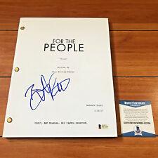 BRITT ROBERTSON SIGNED FOR THE PEOPLE  PILOT EPISODE SCRIPT w/ BECKETT BAS COA