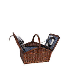 Deluxe 4 Person Wicker Picnic Basket  - ideal for outdoor use