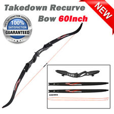 """60"""" Takedown Recurve Bow Archery Right Left Hand 20lbs For Beginner Hunting"""