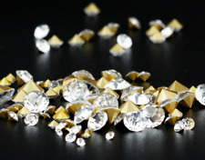 Point Back Round Crystals Gems Stones Foiled Glass Chatons Diamante Rhinestone